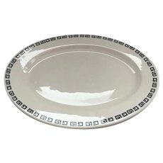 Homer Laughlin Platter in Black and White