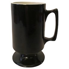 Hall Coffee Bistro  Mug Black with White Interior
