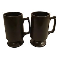 Set of 2 Matte Black Hall Bistro Mugs