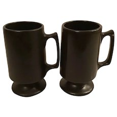 Set of 2 Matte Black Hall Bistro Mugs