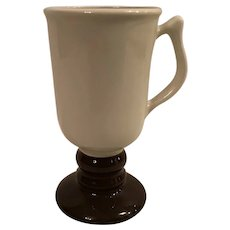 Hall  Cream and Brown Bistro Coffee Mug