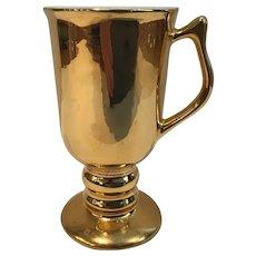 Pair of Gold Hall Bistro Mugs