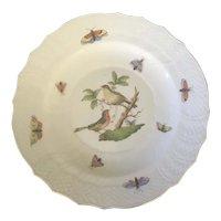 Herend Porcelain Rothschild Bird Dessert Plate