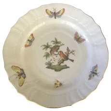 Herend Porcelain Rothschild Bird Bread and Butter Plate