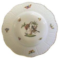 Herend Porcelain Rothschild Bird Rimmed Bowl