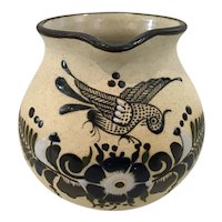 Tonala Hand Painted Mexican Pottery Pitcher
