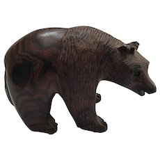 Hand Carved Ironwood Bear