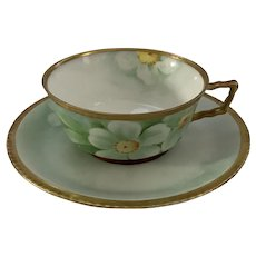 Richard Ginori Turn of the Century Handpainted Teacup