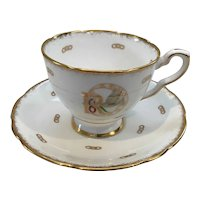 Royal China Teacup and Saucer Rebekah Pattern