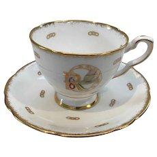 Royal China Teacup and Saucer Rebekah Pattern