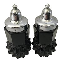 Tiara Indiana Glass Salt and Pepper Shakers