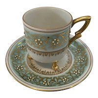 Mitterteich Footed Demitasse Teacup and Saucer