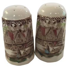 Set of Salt and Pepper Shakers from Johnson Brothers in the Heritage Hall Pattern