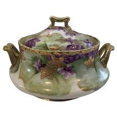 Dai Nippon Meiji Period Antique Japanese Trinket Box/Covered Dish