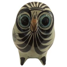 Hand Painted Tonala Owl Signed and Numbered