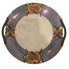 1920's Art Deco Japanese Lustreware Noritake Porcelain Serving Plate