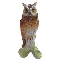 Majolica Owl Figurine made in Italy