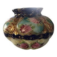 Beautiful Hand Painted Imperial Japanese Vase with Moriage