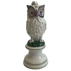 Adorable Mid Century Owl Lamp