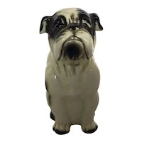 Bulldog Figurine Heavy American Pottery