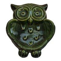 Rose lane California Pottery Owl Trinket Dish, Soap Dish, or Spoon Rest