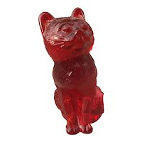 Mosser Ruby Glass Cat
