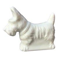 White Mosser Glass Scottie Dog