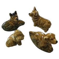 Set of 4 Wade Whimsies Dogs