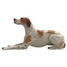 Lomonosov Porcelain Large Pointer Dog with the Red Mark