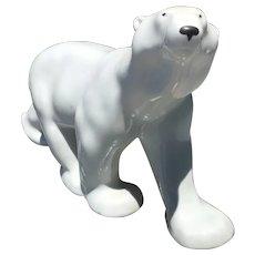 Lomonosov Porcelain Figurine of a Walking Polar Bear (Papa)