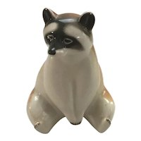Lomonosov Porcelain Sitting Raccoon with the Red Mark