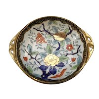 Hand Painted Nippon Bowl with Wonderful Art Nouveau Design