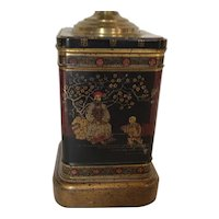 Chinoiserie Tea Tin Lamp