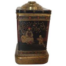Chinoiserie Tea Tin Lamp
