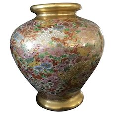 Beautiful Satsuma Earthenware Vase