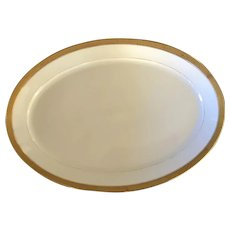 Large Gold Rimmed Limoge Platter made for S. and G. Gump of San Francisco California circa 1890-1920
