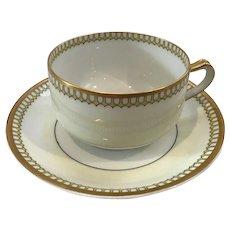Set of 8 Haviland Limoges France Art Deco Cups and Saucers