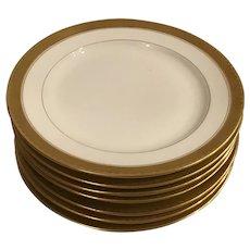 Set of 6 Limoge Salad/Dessert Plates made for Gumps