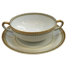 "Charles Haviland & Co. Limoges France ""Art Deco""Creamers and Saucers-Set of 7"