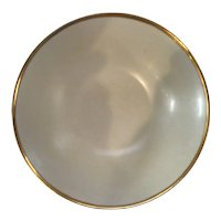 "Lovely Turn of the Century 9"" Serving Bowl with Lustreware and Heavy Gold Trim marked Brown's Studio Germany"