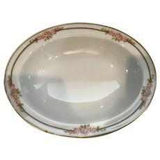 Beautiful Limoges Oval serving Bowl