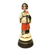Art Deco Chinese Woman Figural Lamp