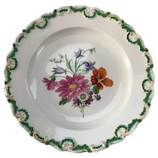 Meissen 8 1/2 inch Handpainted Salad or Luncheon Plate