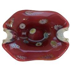 Fratelli Toso Italian Glass Dish with Murrines
