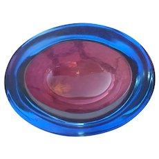 Archimede Seguso Murano Glass Geode/Dish