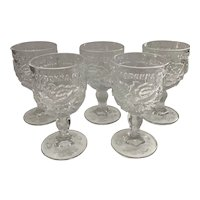 Madonna Inn Fenton/ L G Wright Clear Goblets  Goblets