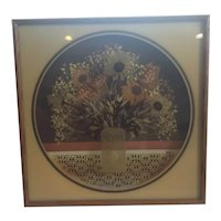 Virgil Thrasher Art on Glass with Recessed Graphic Background