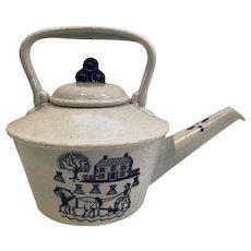 Metlox Poppytrail Teapot Provincial Blue California Pottery