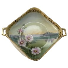 Hand Painted Nippon Square Bowl