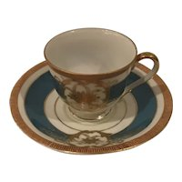 Occupied Japan Fancy Gilded Teacup and Saucer